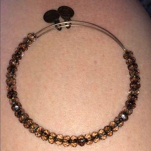 Alex & Ani brown bead bracelet